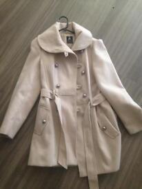 Cream winter ladies coat Size 10