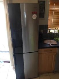 Silver and Black LG fridge freezer