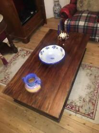 Fine antique wooden coffee table