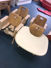 Child's moulded dining chair