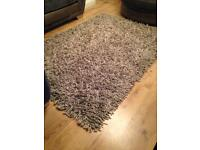 Large silver grey rug