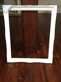 """White Wooden Picture/Mirror Frame 20"""" x 24"""""""