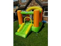 Bouncy castle with slide for kids upto aged 5 years