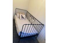 Black IKEA Metal Single Bed Frame