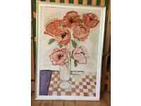 """Large, modern framed picture """"Poppies"""""""
