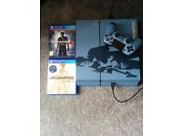 Blue ps4 1tb with games