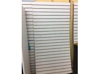 Slatwall panels Shop slat wall 19 complete panels 8ft x 4ft with inserts