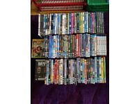 100+ Dvds for sale. Good condition. Box sets, blu-ray, disney dvds included in collection