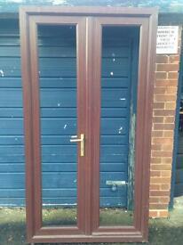 BROWN UPVC DOORS MINT CONDITION