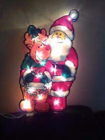 Christmas Santa and reindeer light