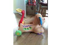 Musical dog walker/ride on