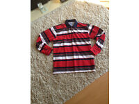 LACOSTE STRIPED MENS TOP IN X LARGE