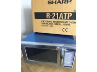 Sharp 1000W Commercial Microwave Oven R21AT Brand New