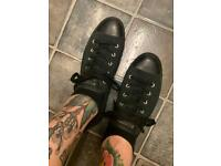 Converse All Black Canvas Sneakers UK size 8