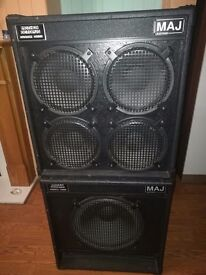Bass cab stack