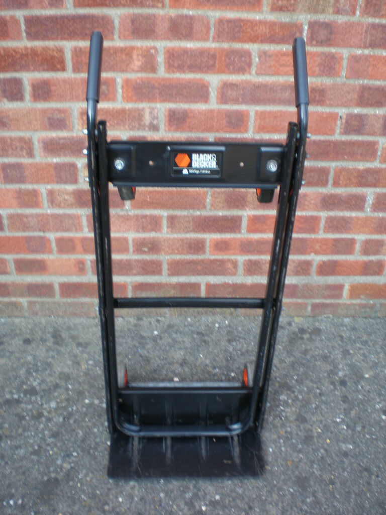 Sack Truck Goods Trolley By Black Decker 100 Kg Weight Limit