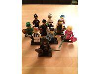 Lego series minifigures x10