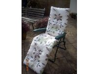 Garden Lounger with Footrest