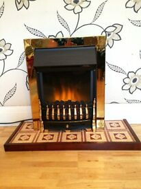 INSET ELECTRICAL LIVING FLAME FIRE WITH HEARTH & INSTRUCTION BOOKLET