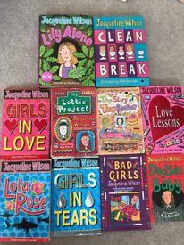 Jacqueline Wilson book bundle - 10 books including 2 hardbacks.