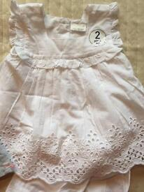 NEW NEXT DRESS WITH SHORTS 6-9 months