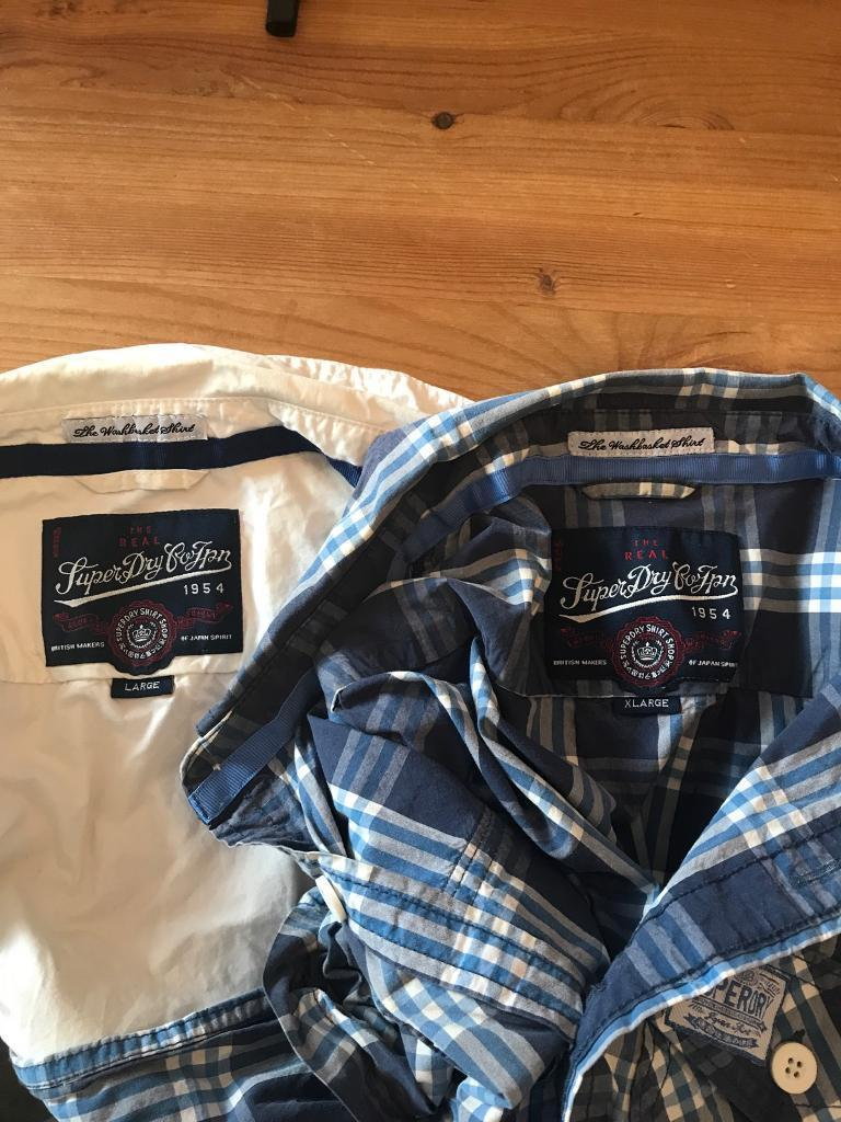 1 large and 1 Xl Superdry Shirts