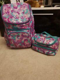 SMIGGLE Unicorn school bag & lunch bag