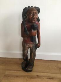 Singing man statue