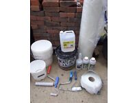 fibreglass materials and tools