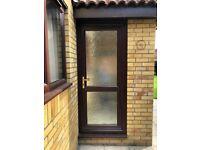 uPVC Wood Grain Brown Door