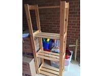 Wooden Shelving Unit (x3) - Smoke Free Home Good Condition