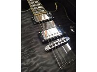 Schecter C-1 Custom electric guitar with hard case and stand