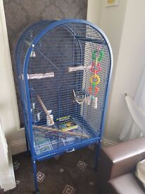 Large Parrot cage including toys