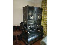 Beautiful Oriental Chinese TV / Storage cabinet