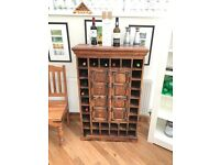 Wine Store Drinks Cabinet for drinks, bottles and glasses. Myakka style.