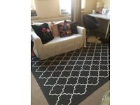 IKEA grey white HOVSLUND rug