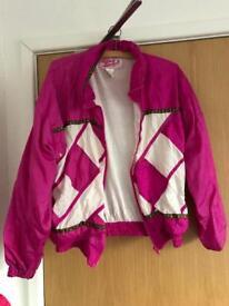 Vintage pink windbreaker jacket