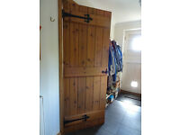 """12 Internal doors 6Ft6""""x 2ft3""""/2ft6"""" pine with sadolin stain. Black hinges & Sufolk latches"""