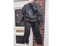 Women's motorbike leather jacket and trousers
