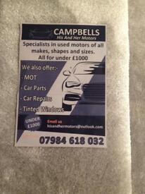 M.o.t and car repairs ,used Cars