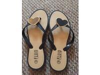 Black flip flops size 7