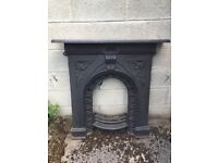 Original cast iron fire surround