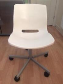 IKEA desk swivel chair white