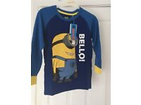 Minions Pyjamas good quality only size 6/7 £3.99 new in bag