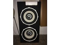 Bass Face POWER12.2 2600W 12 inch Active Twin Subwoofer