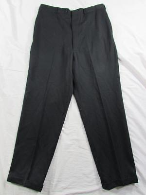 Vtg 50s 60s Wool Hollywood Waist Patterned Dress Pants Slacks Measure 34x30.5