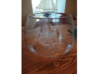 Habitat Fish Bowl with unusual hill feature in glass