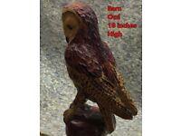 Barn owl Chainsaw sculpture