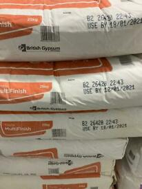 Multifinish plaster Thistle British Gypsum .DELIVERY/COLLECTION 100+ available