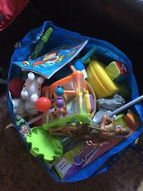 Bag of all sorts of toys